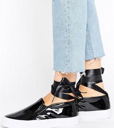 Кроссовки для широкой стопы с завязкой на щиколотке ASOS DESIRE - Черный