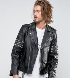 Кожаная куртка с заклепками Reclaimed Vintage - Черный