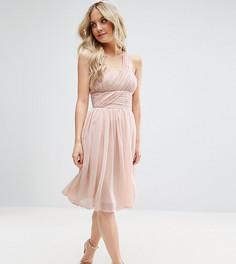 Платье на одно плечо ASOS PETITE WEDDING - Бежевый