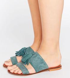 Замшевые сандалии для широкой стопы с кисточками ASOS FORGIVEN - Синий
