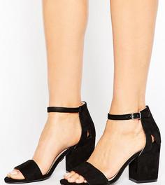 Босоножки для широкой стопы на блочном каблуке Lost Ink - Черный