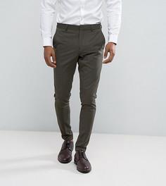 Супероблегающие брюки цвета хаки Selected Homme - Зеленый