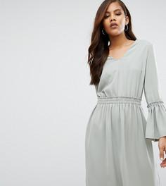 Короткое приталенное платье с глубоким вырезом Y.A.S Tall Wilda - Темно-синий