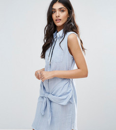Джинсовое платье с запахом спереди Glamorous Tall - Синий