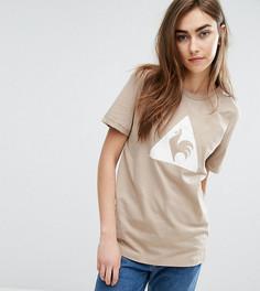 Бежевая футболка с логотипом из флока Le Coq Sportif Charline эксклюзивно для ASOS - Кремовый