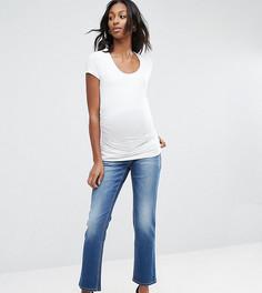 Джинсы бойфренда для беременных со съемным поясом над животом Bandia Maternity - Синий