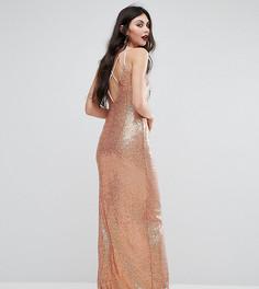 Платье макси с пайетками NaaNaa Tall - Мульти