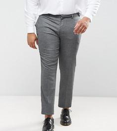 Серые фактурные брюки зауженного кроя ASOS PLUS WEDDING - Серый