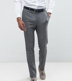 Фактурные брюки скинни сине-серого цвета ASOS TALL WEDDING - Серый