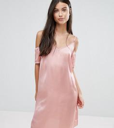 Платье-комбинация с открытыми плечами Vero Moda Petite - Розовый