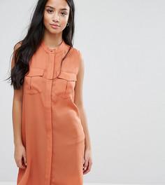 Платье-рубашка с карманами в стиле милитари Vero Moda Petite - Коричневый