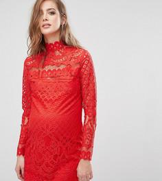 Кружевное платье мини для беременных Missguided Maternity - Красный