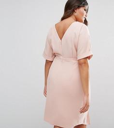 Строгое платье миди ASOS CURVE - Розовый