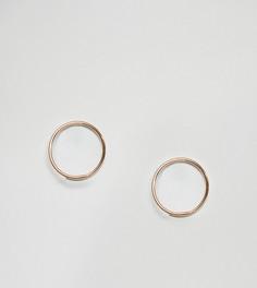 Серебряные серьги-кольца ASOS 12 мм - Золотой
