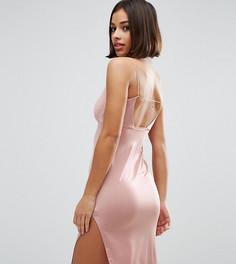 Платье миди с завязкой сзади ASOS PETITE - Золотой