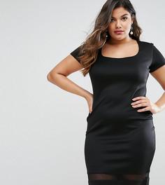 Платье с прозрачными вставками Goddiva Plus - Черный