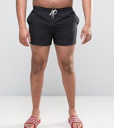 Черные короткие шорты для плавания ASOS PLUS - Черный