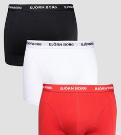 3 пары боксеров-брифов Bjorn Borg - Красный