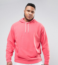 Розовое oversize-худи ASOS PLUS - Розовый