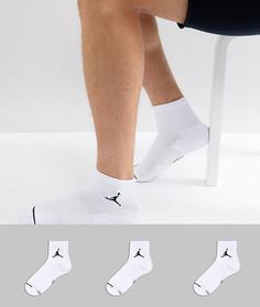 3 пары белых носков Nike Jordan SX5544-100 - Белый