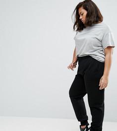Базовые джоггеры со шнурком ASOS CURVE - Черный