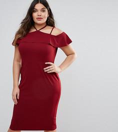 Платье-футляр с лямками ASOS CURVE - Красный