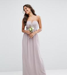 Платье-бандо макси TFNC WEDDING - Серый
