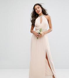 Платье макси с отделкой TFNC WEDDING - Розовый