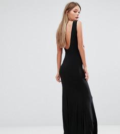 Платье макси с глубоким вырезом на спине Club L - Черный