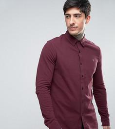 Красная эксклюзивная трикотажная рубашка из пике Farah - Красный
