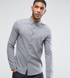 Серая рубашка из трикотажного пике Farah - Серый