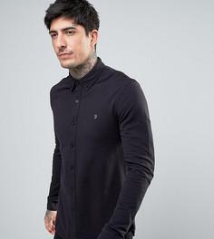 Черная трикотажная рубашка из пике Farah - Черный