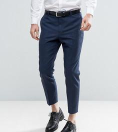 Твидовые брюки скинни Heart & Dagger - Темно-синий