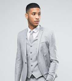 Льняной пиджак скинни в крапинку Noak Wedding - Серый