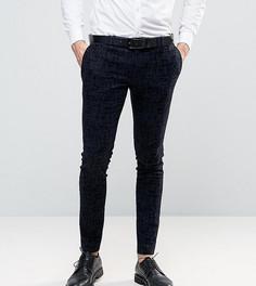 Супероблегающие брюки с бархатистой отделкой Noak - Темно-синий