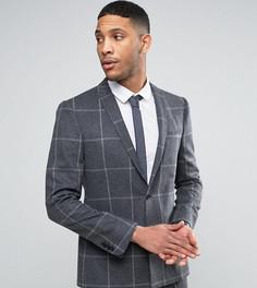 Приталенный пиджак с ровным низом Noak - Серый