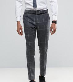 Узкие брюки в клетку Noak - Серый