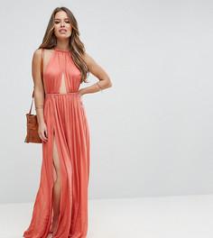 Пляжное платье макси с плетеным ремешком ASOS PETITE - Коричневый