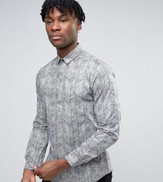 Строгая рубашка скинни с принтом Noak - Белый