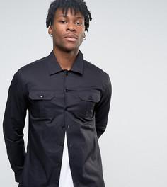 Рубашка скинни в стиле милитари Noak - Черный