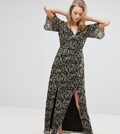 Платье макси с разрезом спереди Influence Tall - Мульти