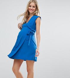Платье-футляр с запахом ASOS Maternity - Синий