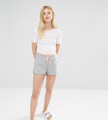 Трикотажные шорты с контрастными завязками для миниатюрных Noisy May - Серый