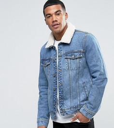 Голубая куртка с искусственным мехом Brooklyn Supply Co - Синий
