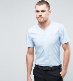 Узкая рубашка с V-образным вырезом и короткими рукавами Hart Hollywood - Синий