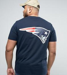 Длинная футболка Majestic PLUS Patriots - Темно-синий