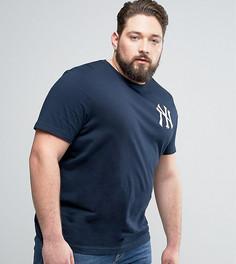 Удлиненная футболка Majestic PLUS New York Yankees - Темно-синий