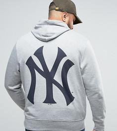 Худи с принтом на спине Majestic PLUS New York Yankees - Серый