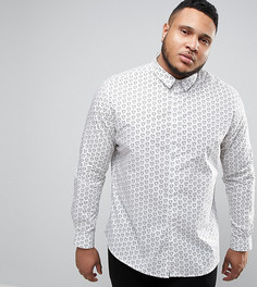 Приталенная рубашка с принтом Noose & Monkey PLUS - Белый