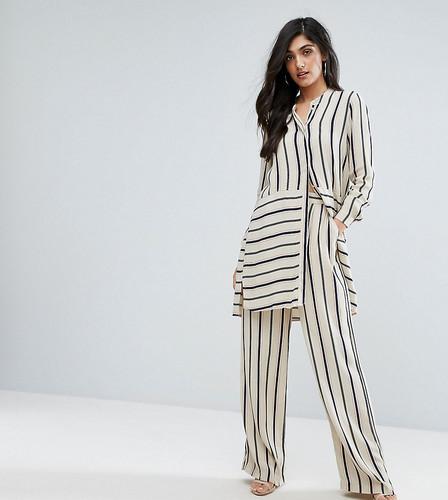 Комбинируемые брюки в полоску с широкими штанинами Y.A.S Tall - Мульти